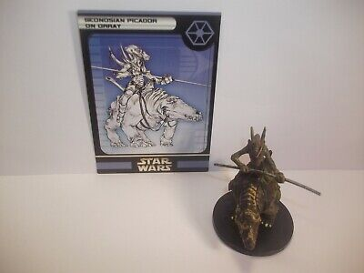 Star Wars Miniatures - Geonosian Picador on Orray 43/60 - Rare - Clone Strike