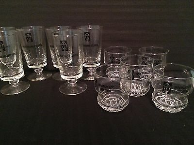10 UNDERGROUND ATLANTA FOOTED HIGHBALL AND OLD FASHIONED GLASSWARE GLASSES