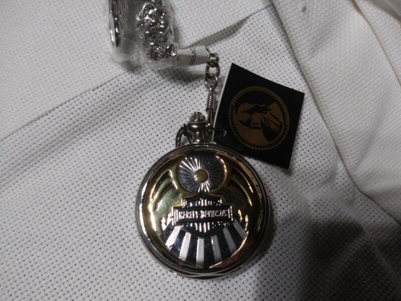 (NOS) Franklin Mint Harley Davidson Pocket watch. # B20C773