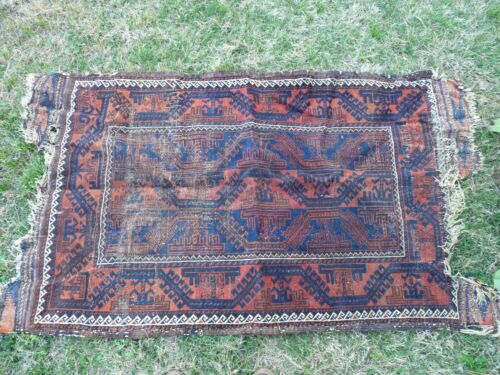 Vintage 38 by 60 Inch Cotton Multi Colored Rug