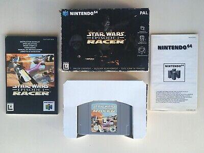 Star Wars Episode I Racer pour Nintendo 64 PAL complet avec manuel + boîte