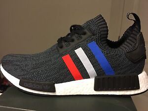 "Adidas NMD R1 Primeknit ""Tri Colour"" Black - Men's size 10"