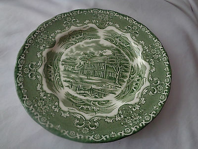Grindley Transferware English Country Inns Green Salad Or Dessert Plate
