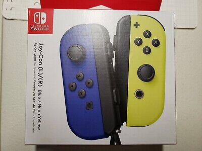 Nintendo Joy-Con Controller Neon Blue / Neon Yellow. Unopened.