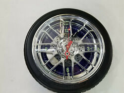 Sterling & Noble Wheel Tire Rim Car Wheel Clock Unbranded Mancave
