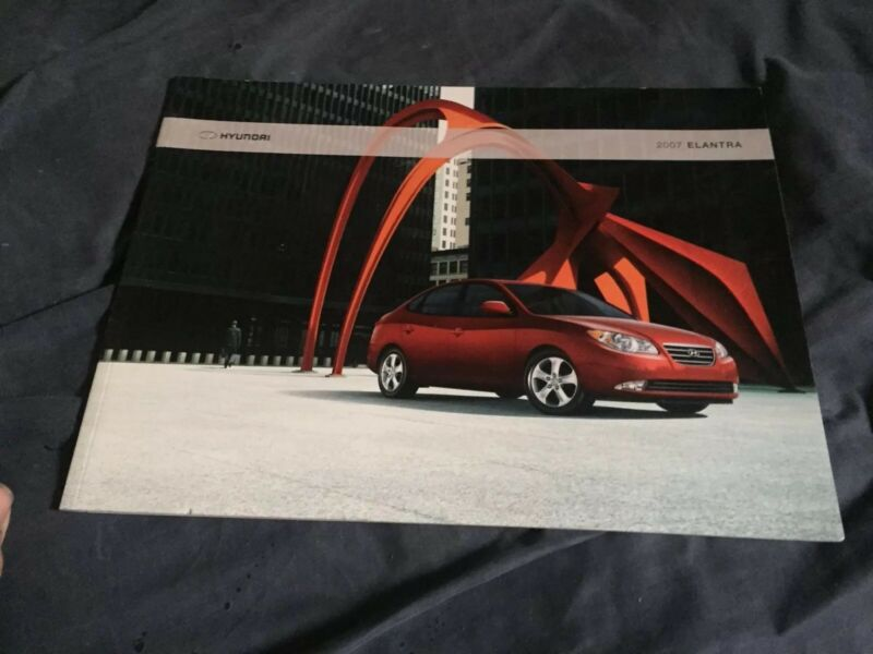 2007 Hyundai Elantra Color Brochure Catalog Prospekt