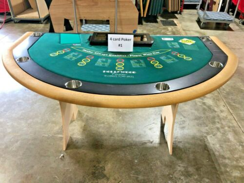 Professional Size 4 Card Poker Table (#1) (USED)