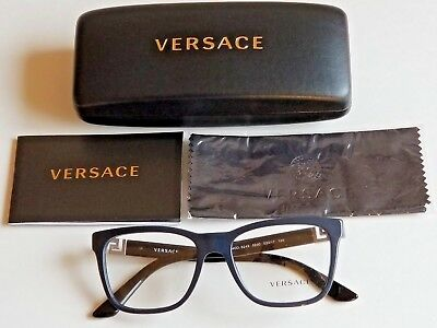 Brand New Versace Men's Prescription Eyeglass Frames Blue sig.Temples MOD 3243