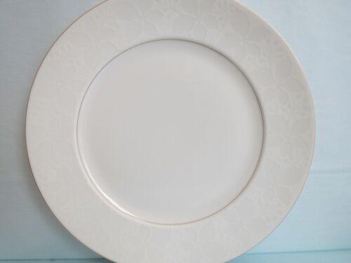 """Vintage ROSENTHAL made in Germany WHITE VELVET 10 ¼"""" gold rim DINNER PLATE"""