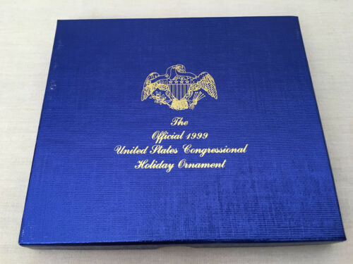 """The Official 1999 United States Congressional Holiday Ornament """"Congress Hall"""""""