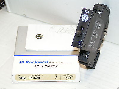 Allen Bradley 1492-gs1g200 Miniature Circuit Breaker 20 Amp New In Box