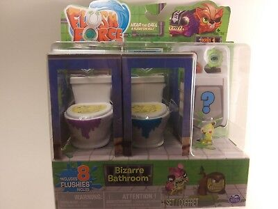 *FLUSH FORCE*SERIES 1*NEW*BIZARRE BATHROOM*COLLECTIBLE 8-PACK* Figures Blind Box