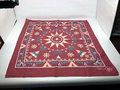 Vintage Bandana Handkerchief Indian Teepee RN 13960 Crafted with Pride - Bandana Crafts