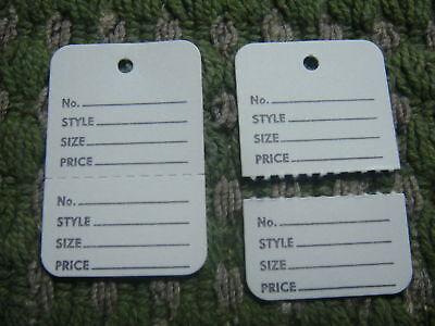 1000 Clothing Price Tagging Tags Gun Hang Label White