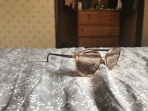 CHANEL Rose gold reflective cat eye glasses