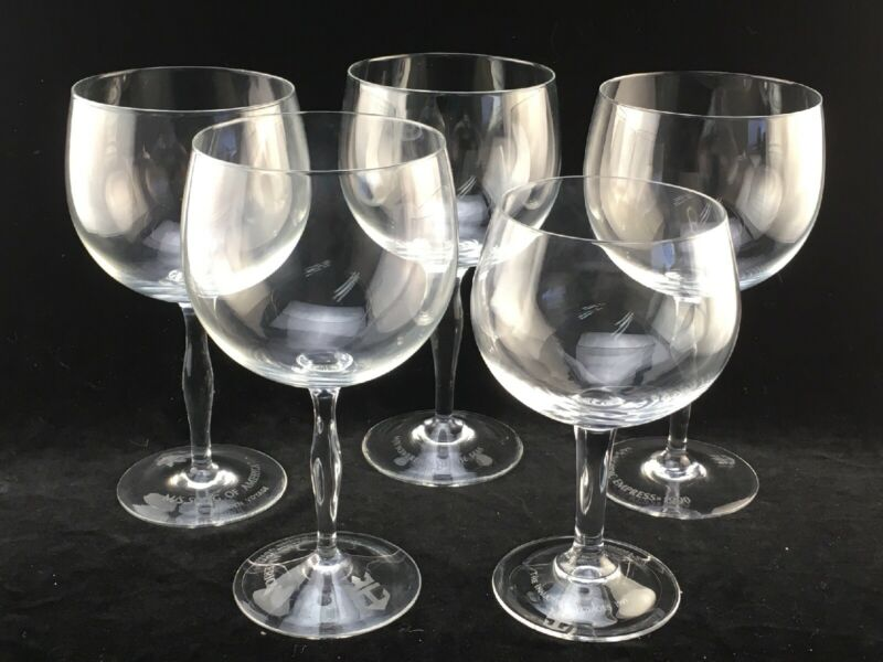 Five Royal Caribbean Cruise Line LARGE Wine Goblets