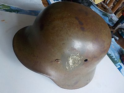 WWII German Helmet With Norwegian Lion Decals No Reserve Free Shipping