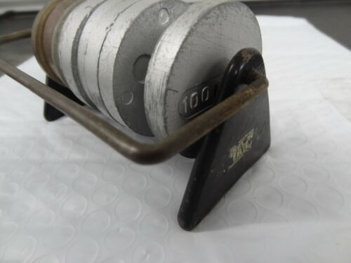Cenco Scientific Metric Weights and Holder as Shown