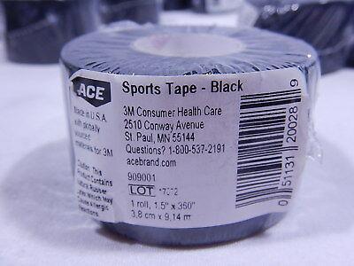 Ace Sports Tape / 3 Rolls / Black / 1.5