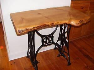 A 1 OFF 100 YR SUPERB OLD TREADLE / RANDOM PINE SLAB  HALL TABLE Morphett Vale Morphett Vale Area Preview