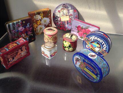 Vintage biscuit tins Delacombe Ballarat City Preview