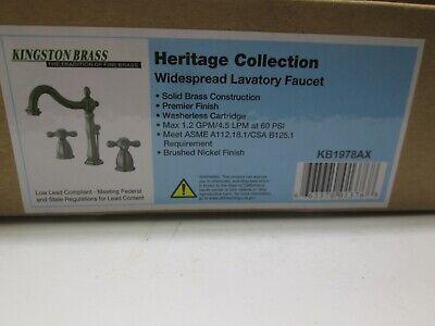 NIB  Kingston Brass  Brushed Nickel Bathroom Sink Faucet   KB1978AX