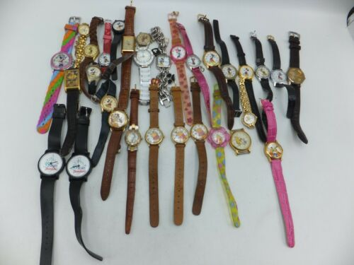 Lot Of 30+ Disney, Warner Bros Mickey / Minnie Mouse Kids Watches - Sold As-Is