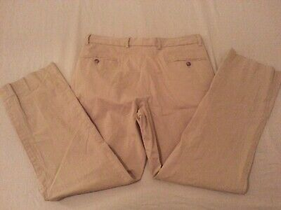 Mens Nautica Khaki Dress Pants 32x30 Cotton Slack Chino Dress Trouser