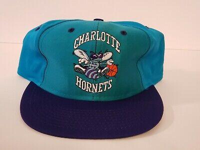 Charlottle Hornets Vintage Snapback Hat NBA Logo 7 NEW