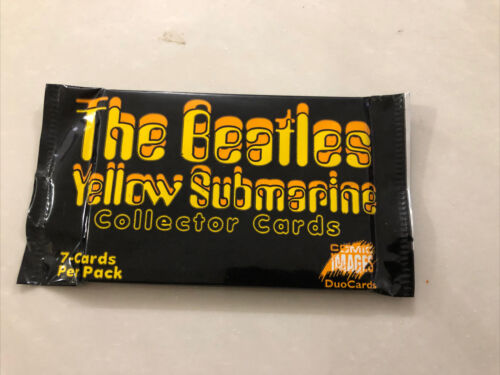 The Beatles Yellow Submarine Collector Card One Pack Of 7 Cards New Unopened - $29.95