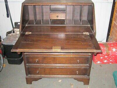 Vintage solid wood bureau  £45