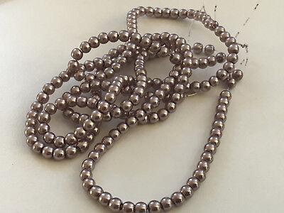 Bronze 4 (Glaswachsperlen Perlen braun bronze glänzend 4 mm 200 Stück Schmuck Basteln R202)