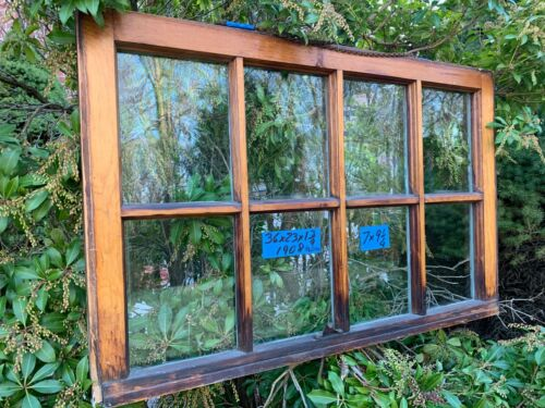 Vintage Antique Rare 8 panes Window sash 36 x 23  from 1908