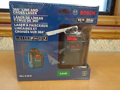 New Bosch Gll 2-20 S 360 Degree Line And Cross Laser Fast Free Shipping