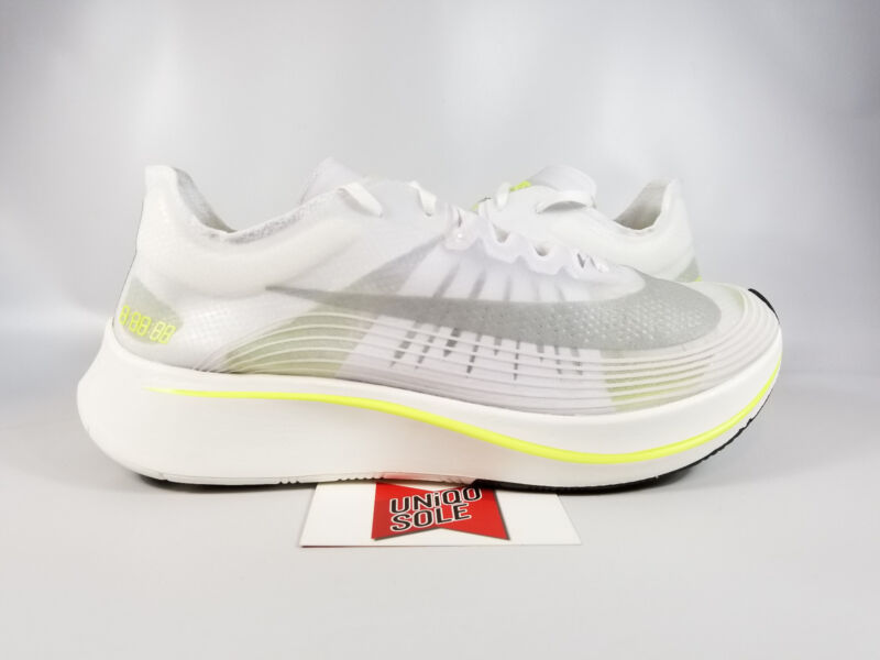 watch c2a15 aeadb Nike Zoom Fly SP NikeLab BOSTON MARATHON CITY PACK WHITE VOLT AJ9282-107 sz  8.5