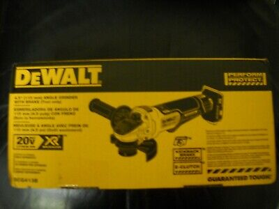 DeWALT DCG413B 20V MAX Cordless 4 1/2 Brushless Angle Grinder w Brake NEW IN BOX