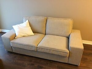 IKEA KIVIK Sofa and Footstool, beige