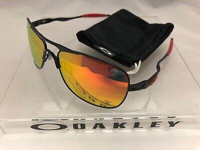 Oakley Crosshair Black/Red Carbon Iridium Ferrari Aviator Sunglasses (Aviator Oakley)