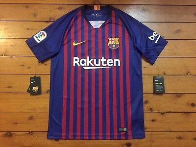 c0a0038ee BARCELONA 2018 2019 MESSI  10 NIKE ORIGINAL BNWT HOME SHIRT JERSEY LARGE
