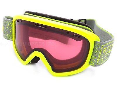 3fe45c45ac SCOTT Jr WITTY junior 5-10 yrs Yellow Green  Enhancer Ski Goggles Kids  260579