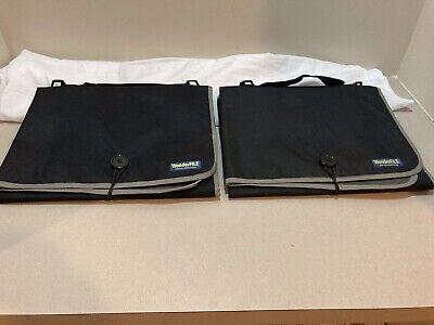 2 Wonderfile Portable Work Station Folding Travel Organizer File Storage Black