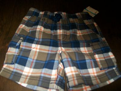 NWT Carter's Blue Plaid Shorts Size Boy's 24 Months
