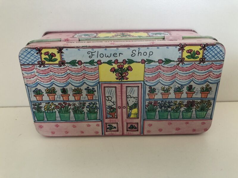 Hunky Dory 1987 Flower Shop Tin Made In England!  Mint!