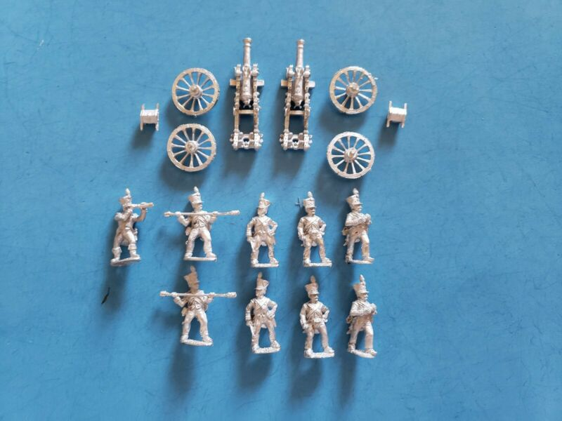 25-28MM FRONT RANK NAP. FRENCH LINE FOOT ARTILLERY BATTERY