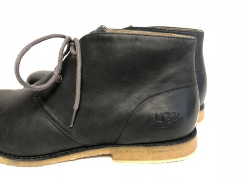cb7036030e0 Мужские ботинки UGG Australia Leighton Leather WP Waterproof Desert Boots  Black Lace 1017272 sz