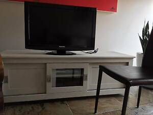 TV Unit, solid timber, limewashed finish Moama Murray Area Preview
