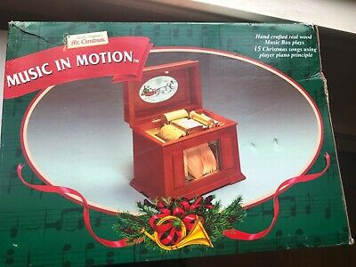 Mr Christmas Music In Motion Player Piano Type Paper Roll Box Holiday 15 songs ()