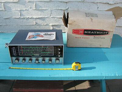 VTG HEATHKIT SHORTWAVE RECEIVER GR-54 W/MANUAL AND BOX (TESTED READ BELOW)