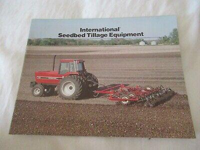 1982 Ih International Seedbed Tillage Equipment Brochure