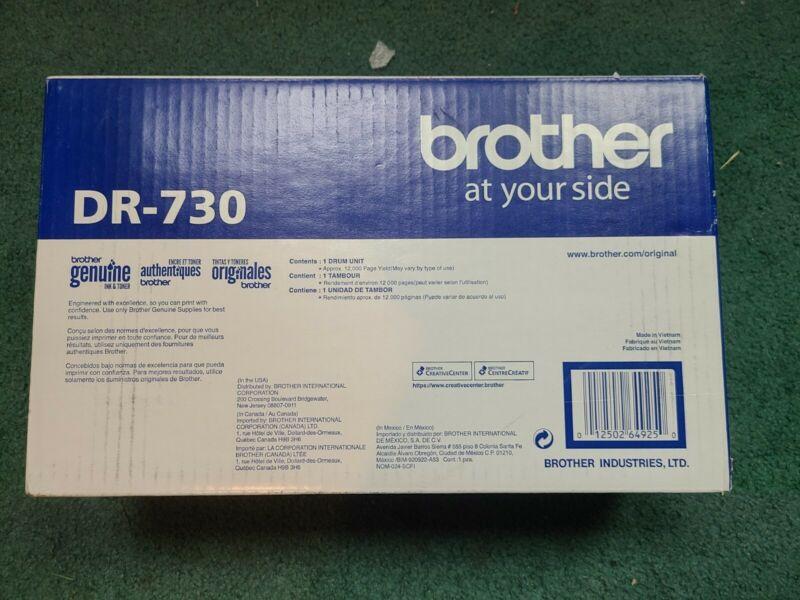 OEM BROTHER  DR-730 DRUM UNIT   NEW OPEN BOX  UNUSED